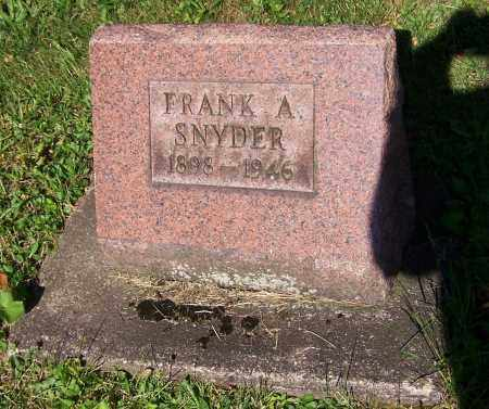 SNYDER, FRANK A. - Stark County, Ohio | FRANK A. SNYDER - Ohio Gravestone Photos