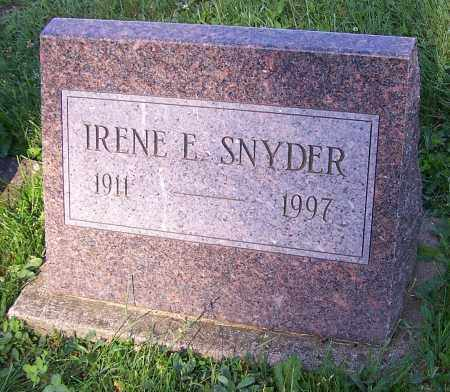 SNYDER, IRENE E. - Stark County, Ohio | IRENE E. SNYDER - Ohio Gravestone Photos