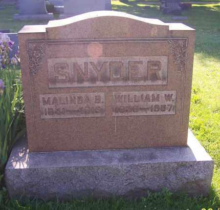 SNYDER, WILLIAM W. - Stark County, Ohio | WILLIAM W. SNYDER - Ohio Gravestone Photos