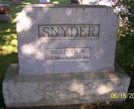 SNYDER, OBADIAH W. - Stark County, Ohio | OBADIAH W. SNYDER - Ohio Gravestone Photos