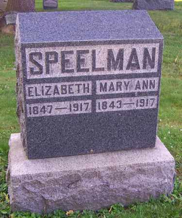 SPEELMAN, ELIZABETH - Stark County, Ohio | ELIZABETH SPEELMAN - Ohio Gravestone Photos