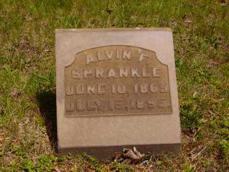 SPRANKLE, ALVIN F. - Stark County, Ohio   ALVIN F. SPRANKLE - Ohio Gravestone Photos