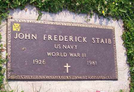 STAIB, JOHN FREDERICK  (MIL) - Stark County, Ohio   JOHN FREDERICK  (MIL) STAIB - Ohio Gravestone Photos