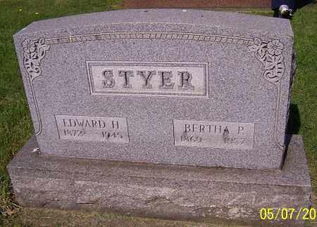 STYER, BERTHA P. - Stark County, Ohio | BERTHA P. STYER - Ohio Gravestone Photos