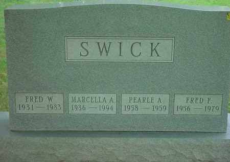 SWICK, FRED W - Stark County, Ohio | FRED W SWICK - Ohio Gravestone Photos