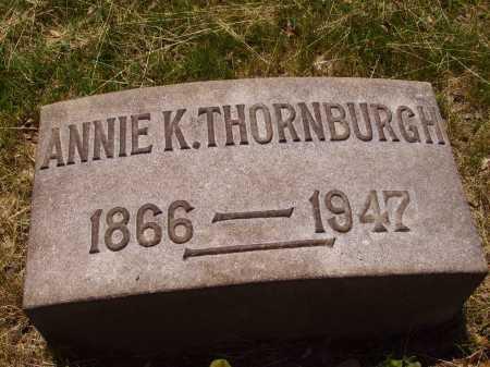 THORNBURGH, ANNIE K. - Stark County, Ohio | ANNIE K. THORNBURGH - Ohio Gravestone Photos