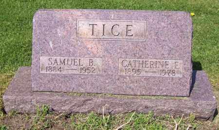 TICE, CATHERINE E. - Stark County, Ohio | CATHERINE E. TICE - Ohio Gravestone Photos