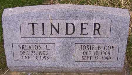 TINDER, JOSIE B. COE - Stark County, Ohio   JOSIE B. COE TINDER - Ohio Gravestone Photos