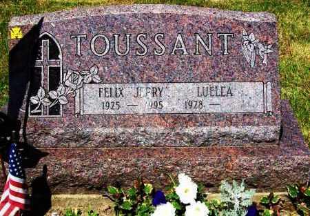 MENEGAY TOUSSANT, LUELLA M. - Stark County, Ohio | LUELLA M. MENEGAY TOUSSANT - Ohio Gravestone Photos