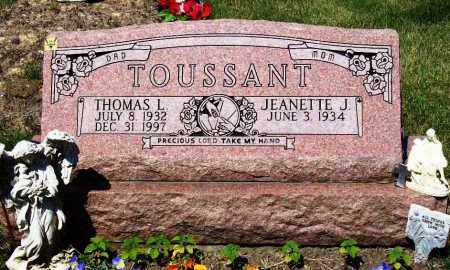 TOUSSANT, THOMAS L. - Stark County, Ohio | THOMAS L. TOUSSANT - Ohio Gravestone Photos