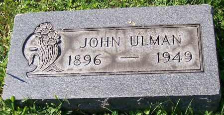 ULMAN, JOHN - Stark County, Ohio   JOHN ULMAN - Ohio Gravestone Photos