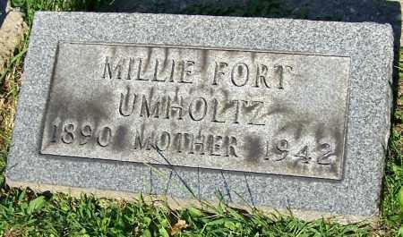 UMHOLTZ, MILLIE FORT - Stark County, Ohio | MILLIE FORT UMHOLTZ - Ohio Gravestone Photos