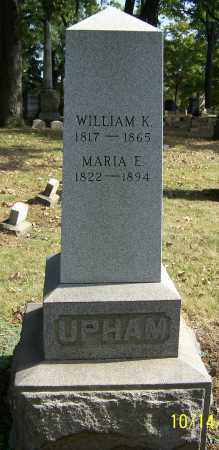 UPHAM, MARIA E. - Stark County, Ohio   MARIA E. UPHAM - Ohio Gravestone Photos