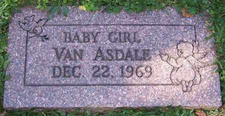 VAN ASDALE, BABY GIRL - Stark County, Ohio   BABY GIRL VAN ASDALE - Ohio Gravestone Photos