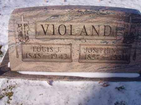 MONNOT VIOLAND, JOSEPHINE LOUISE - Stark County, Ohio   JOSEPHINE LOUISE MONNOT VIOLAND - Ohio Gravestone Photos