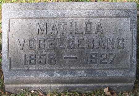 VOGELGESANG, MATILDA - Stark County, Ohio | MATILDA VOGELGESANG - Ohio Gravestone Photos