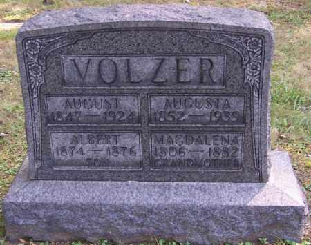 VOLZER, AUGUSTA - Stark County, Ohio | AUGUSTA VOLZER - Ohio Gravestone Photos