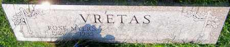 VRETAS, ROSE MYERS - Stark County, Ohio   ROSE MYERS VRETAS - Ohio Gravestone Photos