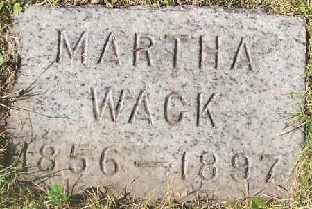 WACK, MARTHA - Stark County, Ohio | MARTHA WACK - Ohio Gravestone Photos