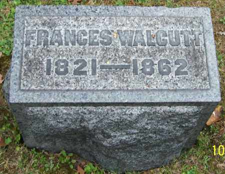 WALCUTT, FRANCES - Stark County, Ohio | FRANCES WALCUTT - Ohio Gravestone Photos