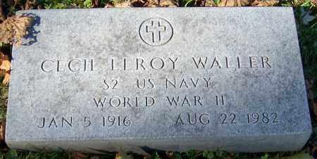 WALLER, CECIL LEROY - Stark County, Ohio | CECIL LEROY WALLER - Ohio Gravestone Photos