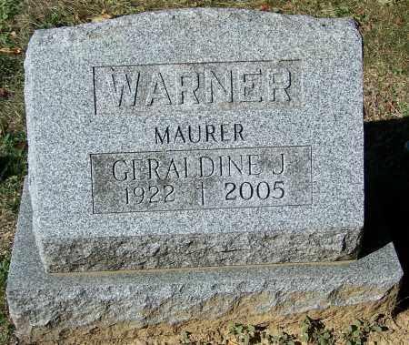 MAURER WARNER, GERALDINE J. - Stark County, Ohio | GERALDINE J. MAURER WARNER - Ohio Gravestone Photos