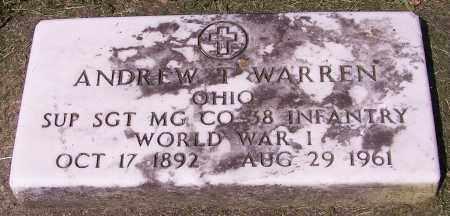 WARREN, ANDREW T. - Stark County, Ohio | ANDREW T. WARREN - Ohio Gravestone Photos
