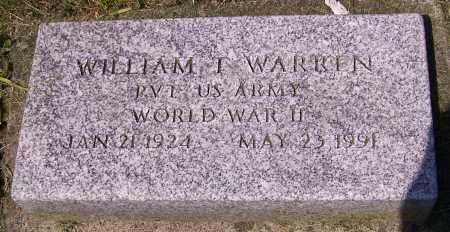 WARREN, WILLIAM T. - Stark County, Ohio | WILLIAM T. WARREN - Ohio Gravestone Photos