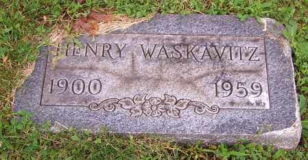 WASKAVITZ, HENRY - Stark County, Ohio | HENRY WASKAVITZ - Ohio Gravestone Photos