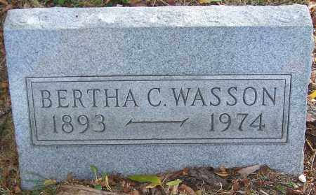 WASSON, BERTHA C. - Stark County, Ohio   BERTHA C. WASSON - Ohio Gravestone Photos