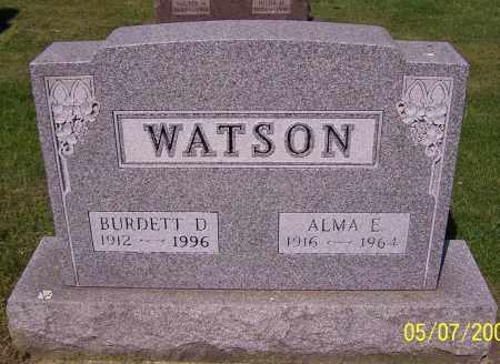 WATSON, BURDETT D. - Stark County, Ohio | BURDETT D. WATSON - Ohio Gravestone Photos