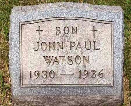 WATSON, JOHN PAUL - Stark County, Ohio | JOHN PAUL WATSON - Ohio Gravestone Photos