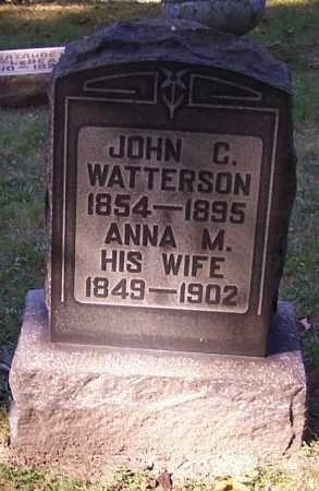 WATTERSON, JOHN C. - Stark County, Ohio | JOHN C. WATTERSON - Ohio Gravestone Photos