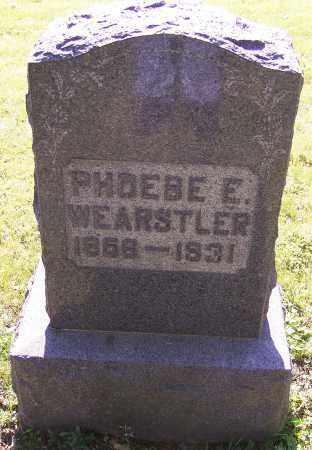 WEARSTLER, PHOEBE E. - Stark County, Ohio | PHOEBE E. WEARSTLER - Ohio Gravestone Photos