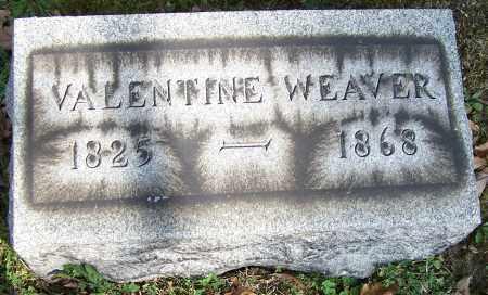 WEAVER, VALENTINE - Stark County, Ohio | VALENTINE WEAVER - Ohio Gravestone Photos