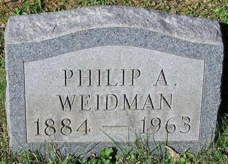 WEIDMAN, PHILIP A. - Stark County, Ohio   PHILIP A. WEIDMAN - Ohio Gravestone Photos