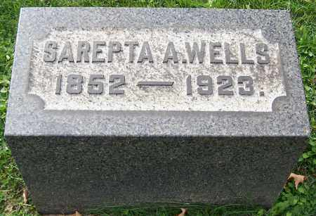 WELLS, SAREPTA A. - Stark County, Ohio | SAREPTA A. WELLS - Ohio Gravestone Photos