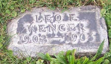 WENGER, LEO F. - Stark County, Ohio | LEO F. WENGER - Ohio Gravestone Photos