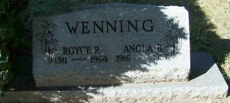 WENNING, ROYCE R. - Stark County, Ohio | ROYCE R. WENNING - Ohio Gravestone Photos