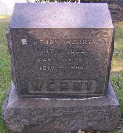 WERRY, HENRY - Stark County, Ohio | HENRY WERRY - Ohio Gravestone Photos