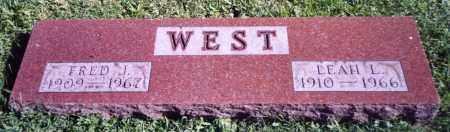 WEST, FRED J. - Stark County, Ohio   FRED J. WEST - Ohio Gravestone Photos