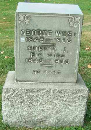 WEST, SOPHIA J. - Stark County, Ohio | SOPHIA J. WEST - Ohio Gravestone Photos