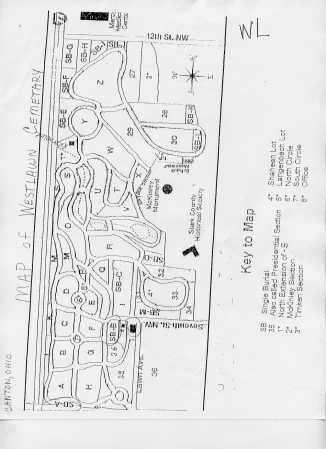 WESTLAWN, MAP - Stark County, Ohio | MAP WESTLAWN - Ohio Gravestone Photos
