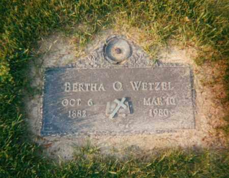 WETZEK, BERTHA OLEVIA - Stark County, Ohio | BERTHA OLEVIA WETZEK - Ohio Gravestone Photos