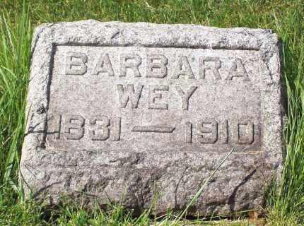 WEY, BARBARA - Stark County, Ohio | BARBARA WEY - Ohio Gravestone Photos