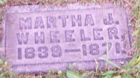WHEELER, MARTHA J. - Stark County, Ohio | MARTHA J. WHEELER - Ohio Gravestone Photos