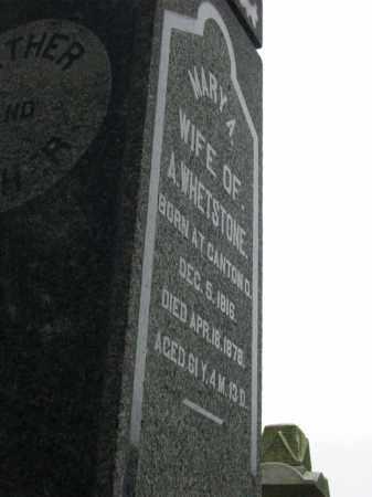 WHETSTONE, MARY A - Stark County, Ohio | MARY A WHETSTONE - Ohio Gravestone Photos