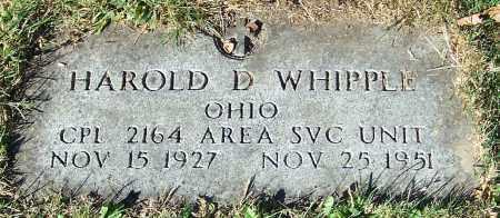 WHIPPLE, HAROLD D. - Stark County, Ohio | HAROLD D. WHIPPLE - Ohio Gravestone Photos