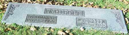 WHIPPLE, THOMAS H. - Stark County, Ohio | THOMAS H. WHIPPLE - Ohio Gravestone Photos