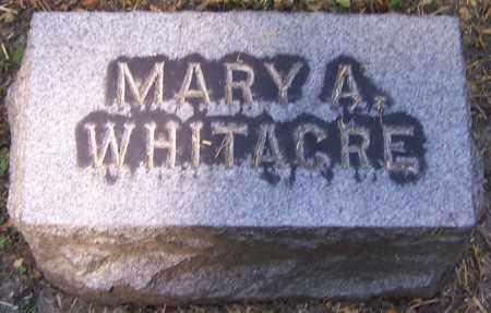 WHITACRE, MARY A. - Stark County, Ohio   MARY A. WHITACRE - Ohio Gravestone Photos
